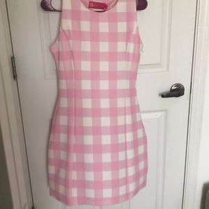 Macbeth Collection pink gingham dress
